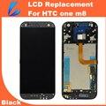 Comerciante ll probado nuevo reparación de piezas de reemplazo de pantalla táctil para htc uno M8 Pantalla Lcd con la Asamblea Del Digitizador + Herramientas Del Envío Gratis