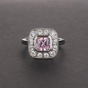 Image 2 - OneRain Vintage 100% 925 Sterling Silber Saphir Topas Citrin Diamanten Hochzeit Engagement Paar Frauen Männer Edelsteine Ring Schmuck