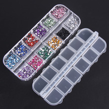 3000pcs Colorful Nail Rhinestone 1 5mm Round Crystal 3D Nail Tips Rhinestone Sticker DIY Manicure Design