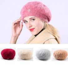 Beret Femme Men Women Winter Design Crown Solid Ear Protector Slouchy Berets Hat Winter Hat Women Winter Lovely Beret Hat HX0128(China)