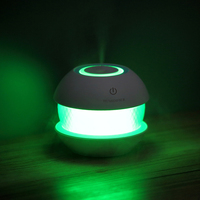 Mini 150ml Round Magic Crystal Shape Usb Mini Air Humidifier Aroma Essential Oil Diffuser LED Lights