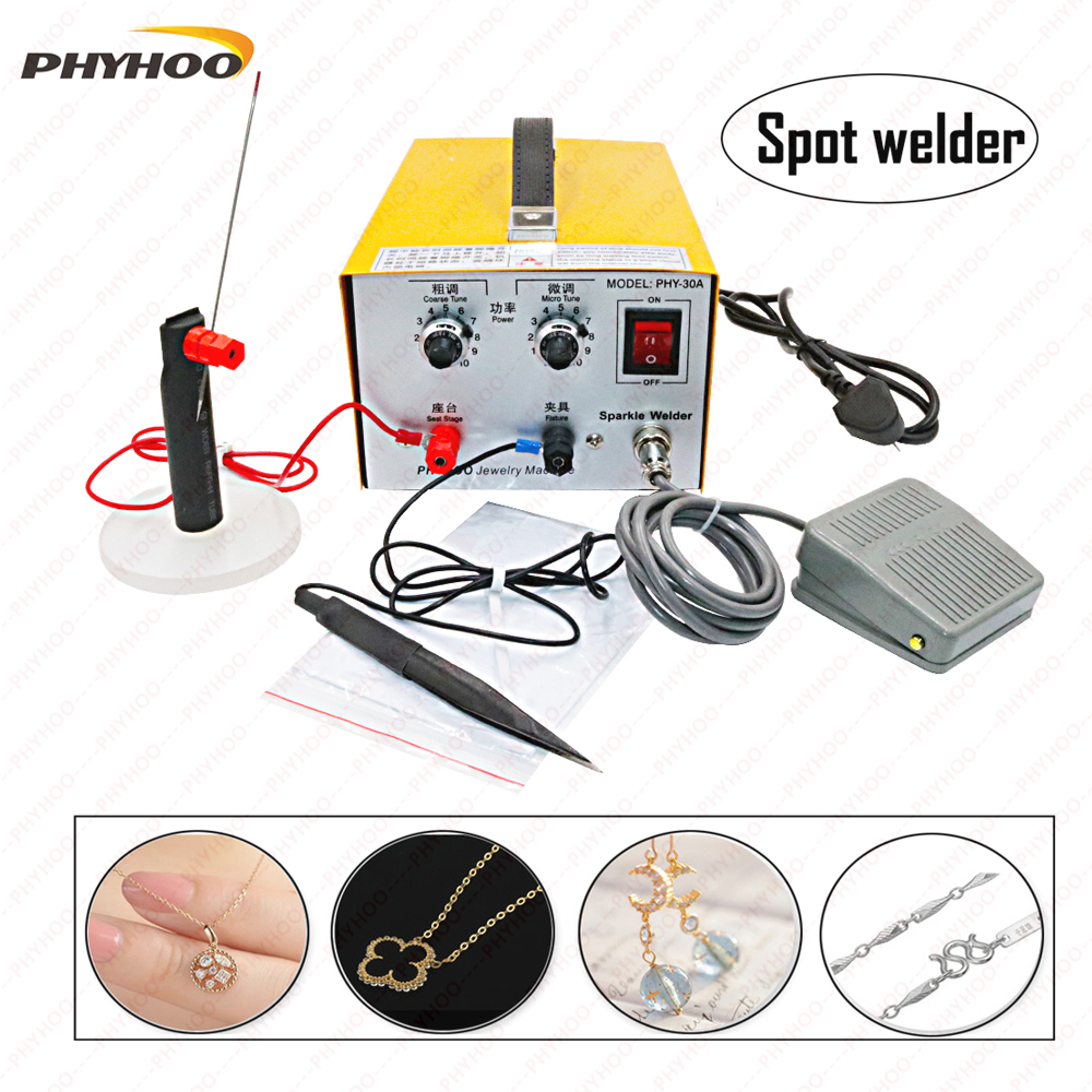 30A Jewelry Spot Welder Metal Necklace Circle Welding Machine  Restore Metal Break Jewelry Making Tools 200W
