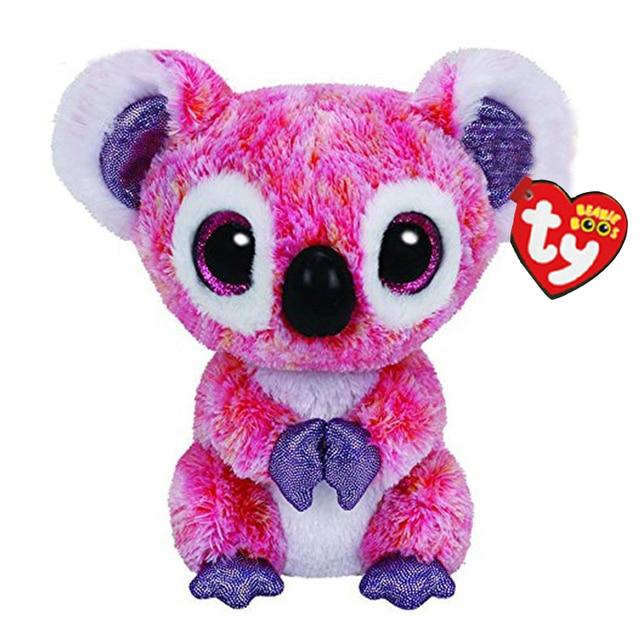 "Brinquedo Vaias Ty Beanie Stuffed & Plush Animais Koala Rosa Boneca 6 ""15 cm"