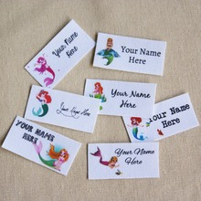 80 pieces Custom logo labels / brand labels, personalized name tags for  children, iron on,Custom Clothing Labels,Name Tags