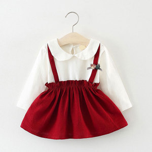 1st baby girls Spring fall clothes Christmas dress for newborn baby girls clothing birthday princess long sleeve dresses dress
