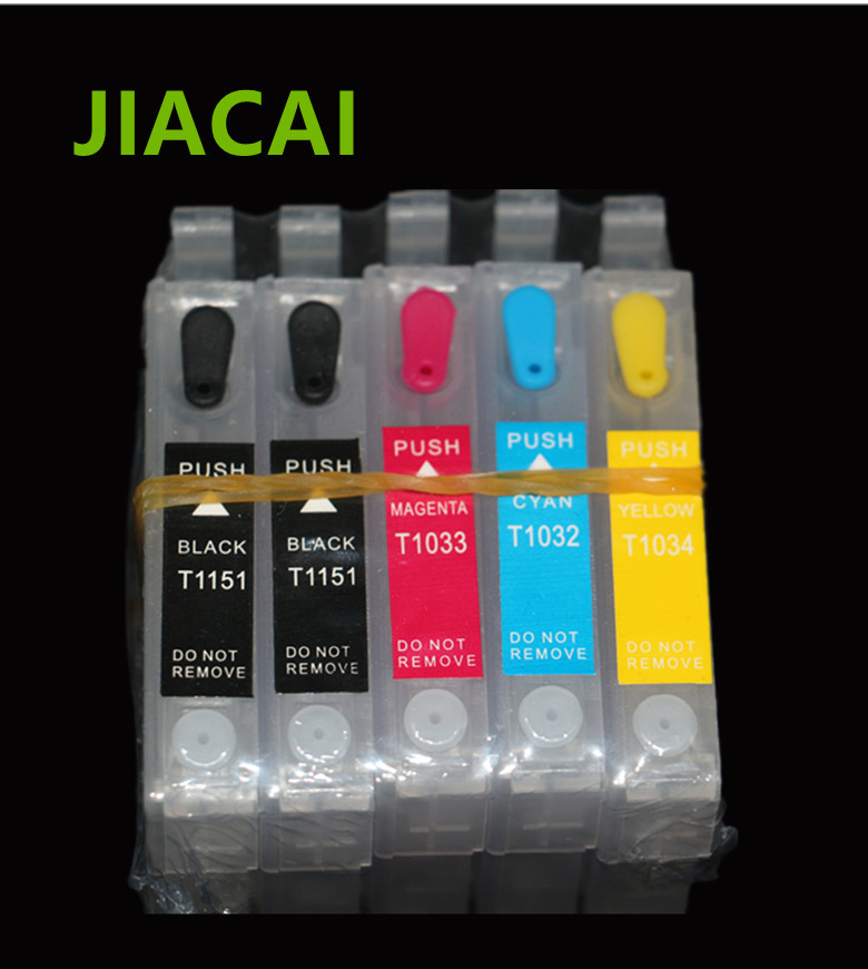 1Set Refillable Ink Cartridge with ARC Chip For Epson T1110 TX515FN Printer For T1151 T1151 T1032 T1033 T1034 Cartridges