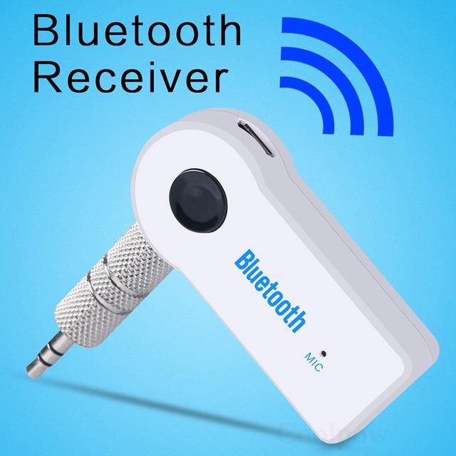 Bluetooth adaptador receptor de música sem fio de áudio do carro cabo de 3.5mm aux falante fone de ouvido hands-free para iphone ipod huawei samsung
