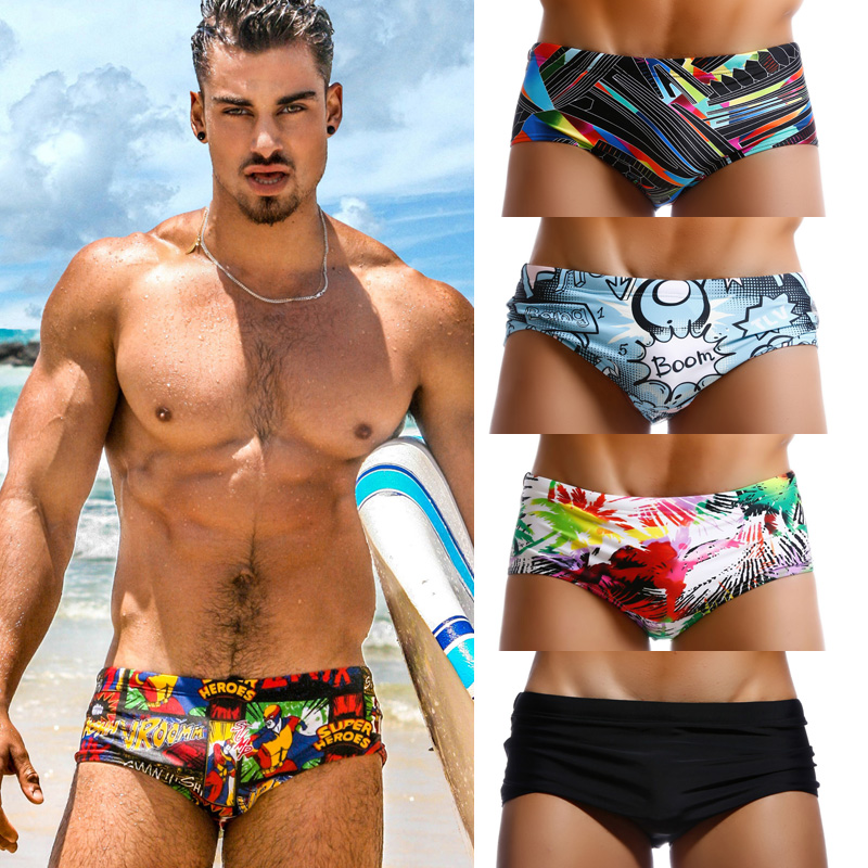 fa58fbcf620 Taddlee Brand Pack of 4 Swimwear Men Swimsuits Swim Boxer Briefs Bikini Gay  Penis Pouch Low Rise Swimming Surf Board Shorts New