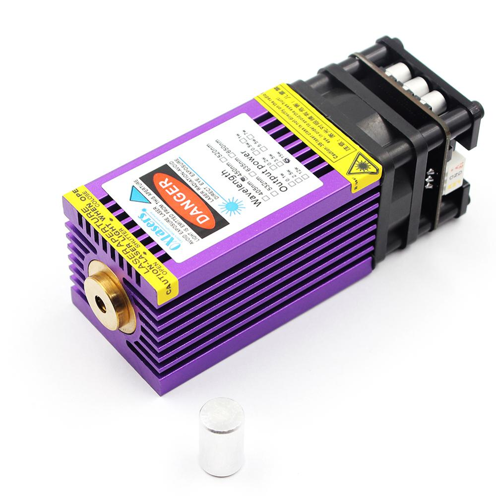OXLasers 450nm 15W Blue Laser Module 15000mW Laser Head For DIY Laser Engraving Cut With PWM Purple Heat Sink Cutting Plywood