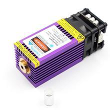 OXLasers cabezal láser de 15000mW, 450nm, 15W, para bricolaje, corte de grabado láser con PWM, disipador de calor púrpura, corte de madera contrachapada