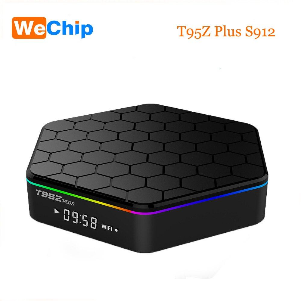 Wechip T95Z Plus TV Box Android 7.1 S912 Octa-core 3G 32G 4 K HD Double Wifi bluetooth4.0 boîtier de smart tv PK X96 T95N lecteur multimédia