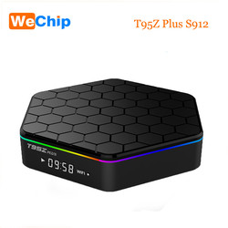 Wechip T95Z Plus TV Box Android 7.1 S912 Octa-core 3G 32G 4K HD Dual Wifi Bluetooth4.0 Smart Tv Box PK X96 T95N Media Player