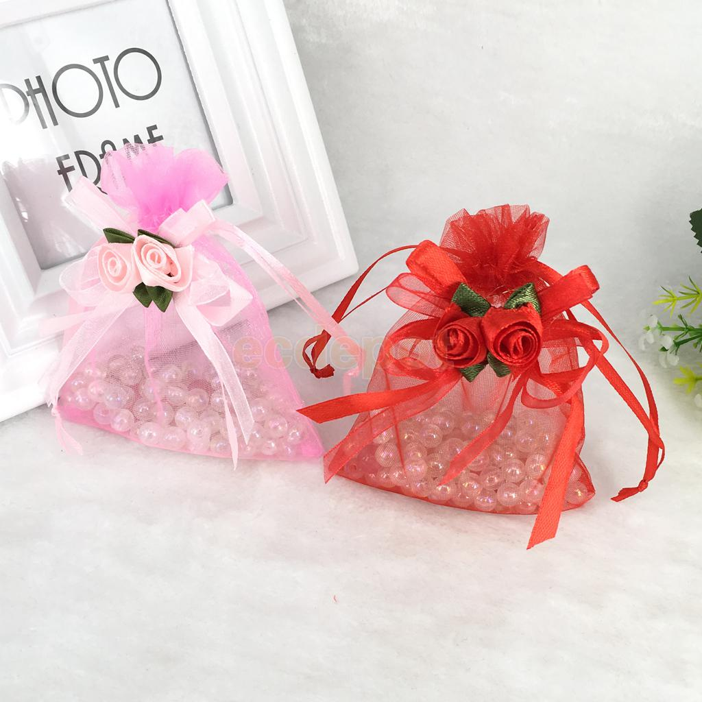 10pcs Organza Tulip Drawstring Gift Bags Wedding Favors-in Gift Bags ...