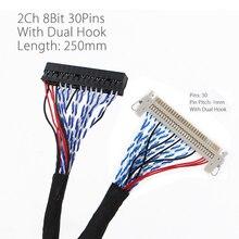 250Mm/450Mm Có Móc Treo LVDS Cáp FIX 30P D8 Sửa 30 Chân D8 Đôi 2ch 8bit 1.0Mm 17 21 Màn Hình LCD Hiển Thị Bảng Điều Khiển