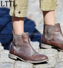 Vintage Gladiator spring women ankle boots loe heeled women's shoes motorcycle boots drop shipping