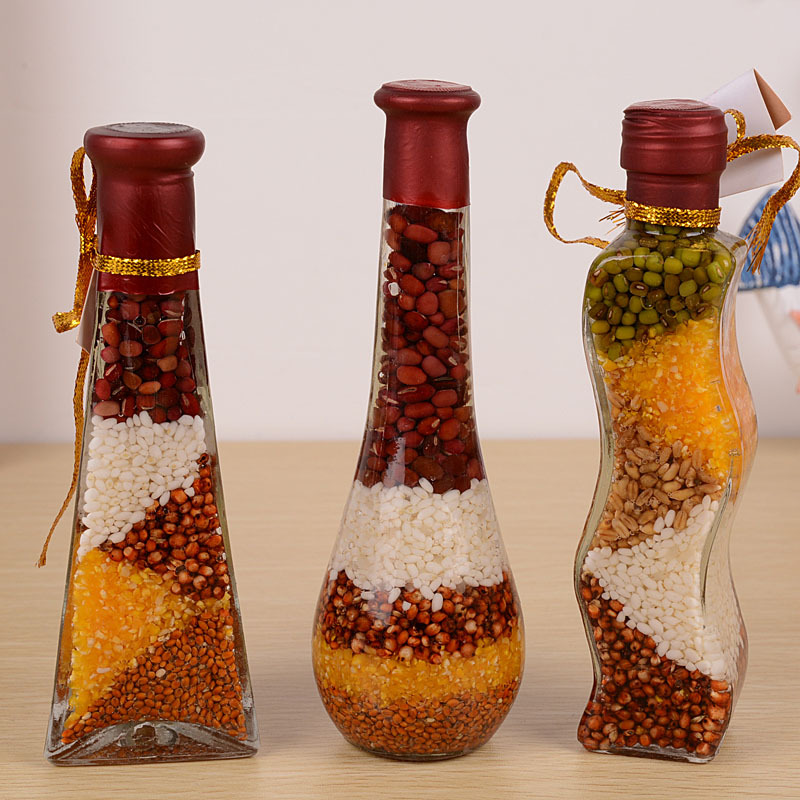 M1623 as11 glass craft home furnishing decoration color for Colored bottles for decorations