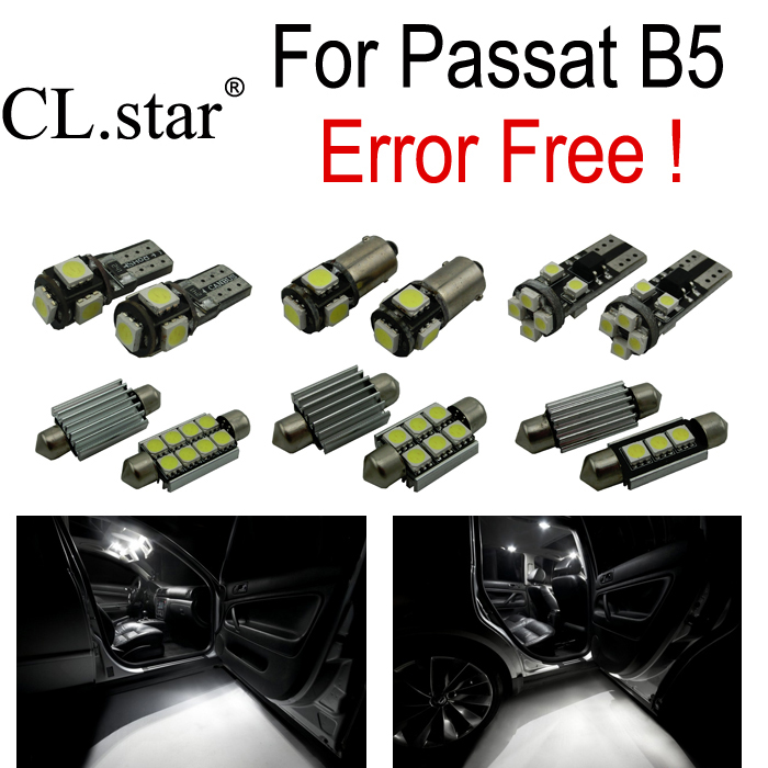 10x LED front dome bulb + rear dome lights + vanity mirror lamp + Trunk + interior light Kit for Volkswagen VW passat b5 (98-05) new arrival 20pcs 29mm 3smd led lamp bulb white sun visor vanity mirror light for car interior lights