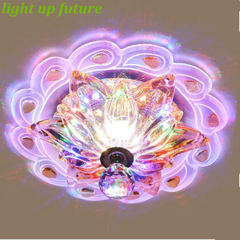∞Luxurious Dia 20cm Crystal Led RGB Aisle Ceiling Light for ...