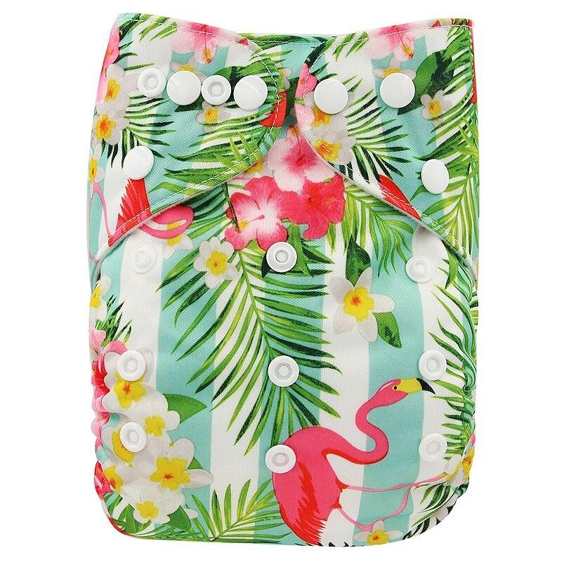 Ohbabyka, детские тканевые подгузники, многоразовые подгузники, унисекс, детские штаны для ухода за ребенком, водонепроницаемые тканевые подгузники с карманами, детские подарки для душа - Цвет: OB165