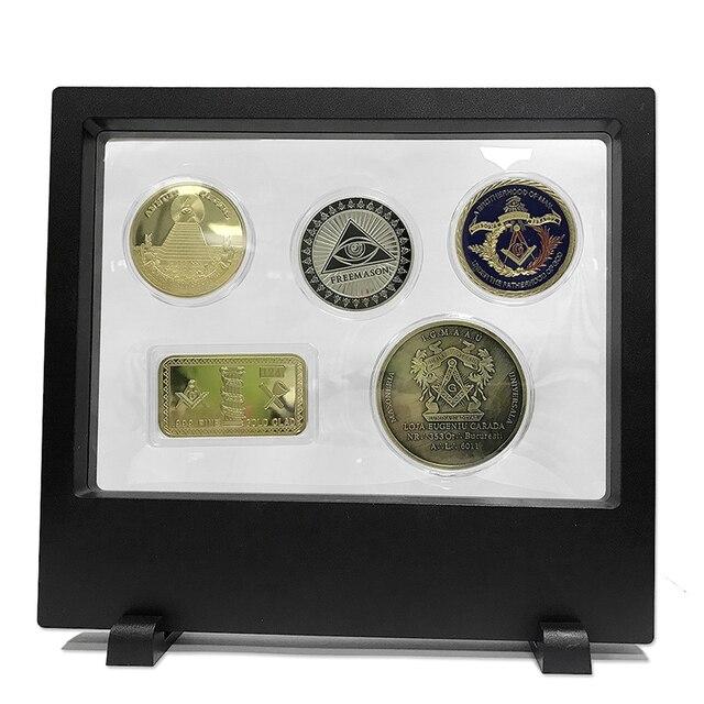 1 Satzlos Freimaurer Serie Album Für Münzen Medaillen Freimaurer