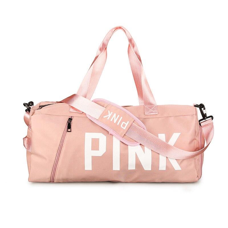 Pink Duffle Bag Waterproof Nylon Bag Women Travel Bags Handbag Fashion High Capacity Carry On Luggage Sac Weekend Package