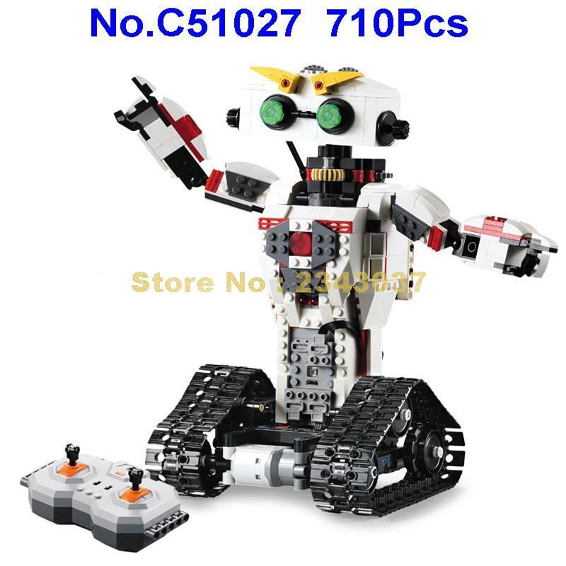C51027 710pcs 2in1 technic รีโมทคอนโทรล rc transformation deformation หุ่นยนต์ usb building block ของเล่น-ใน บล็อก จาก ของเล่นและงานอดิเรก บน   2