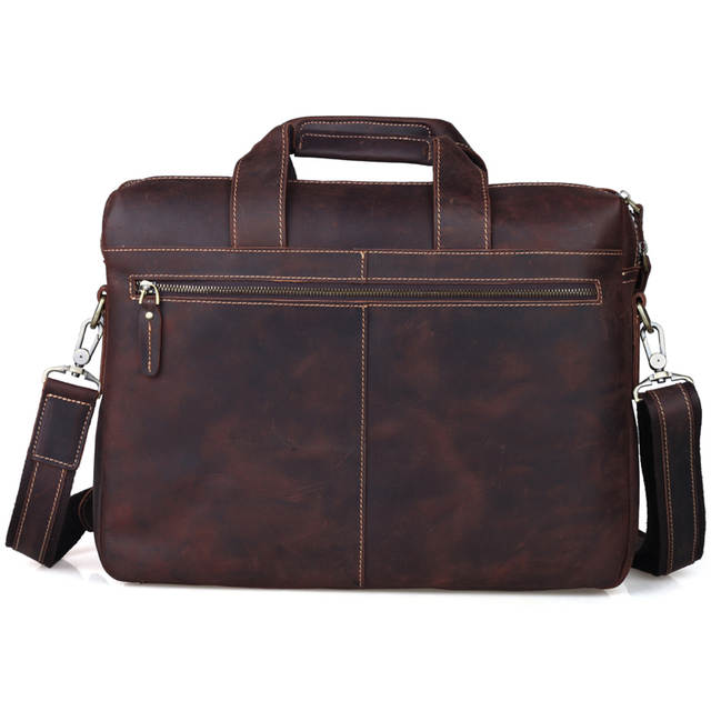 1a06707833 Online Shop Tiding Buneness Crazy Horse Leather 14 Inch Laptop Briefcase  Mens Handbag Brown Vintage Simple Shoulder Satchel Messenger Bag