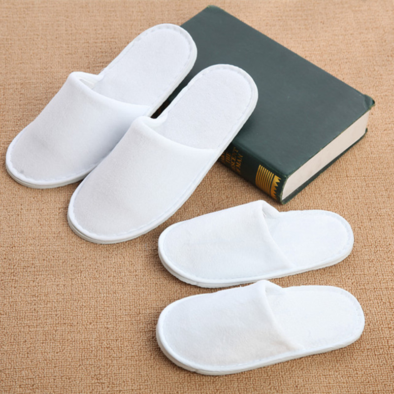 5 Pair Kids And Adult Hotel Travel Spa Disposable Slippers Home Guest Slippers White Shoes Children Disposable Slippers