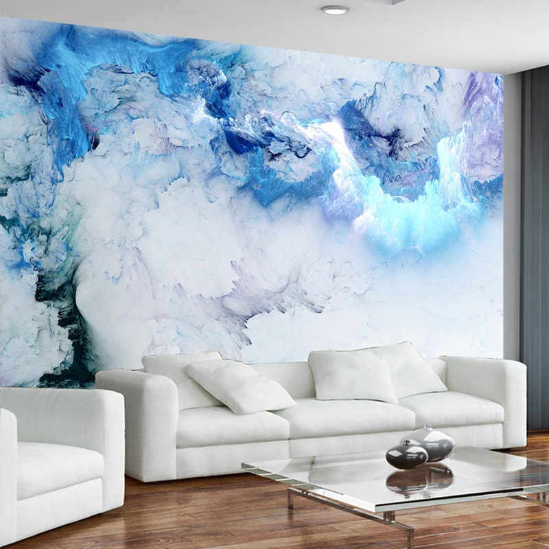 abstract mural modern wall simple cloud living background colorful friendly eco cloth tv sofa fabric papers