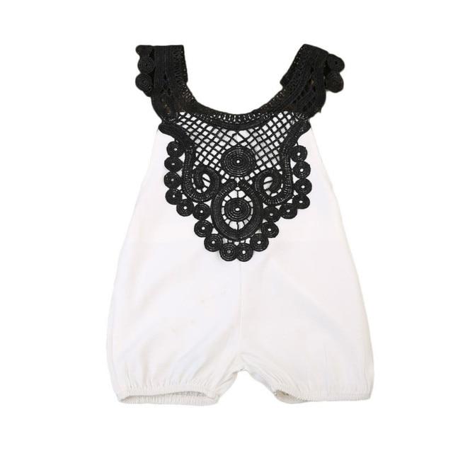 5d613c65899b Princess Newborn Baby Girls Infant Lace Floral Crochet Jumpsuit Romper Kids  Summer Backless Rompers Outfit Sunsuit Clothes 0-2Y