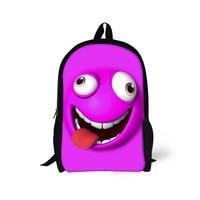 FORUDESIGNS Funny Printing Girls Boys School Bags,Teenager Students 16 Inch School Book Bag,Children Kids Fashion Schoolbags