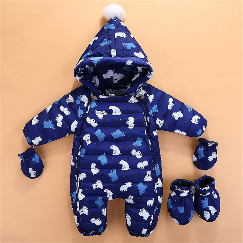 2018 Baby Girl Infantil New Bibs Winter Girls Snowsuit Newborn Infant Romper Down Coat Clothes Thick Warm Long Sleeve Outwear daniele alessandrini homme свитер
