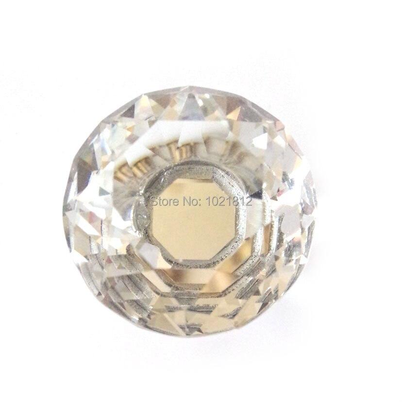 10 шт. прозрачные хрустальные ручки для шкафа ящик ручка для шкафа ручки шкаф для одежды ручки 29,5 мм Алмазный Узор