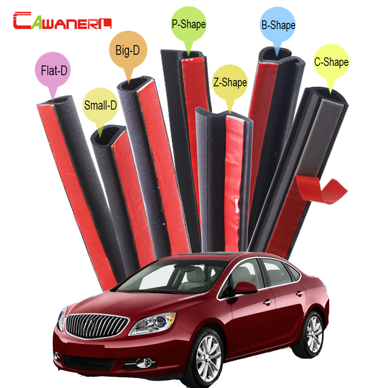 Cawanerl Auto Seal Edge Trim Weatherstrip Rubber Car Sealing Strip Kit Noise Control For Buick Century Verano Excelle Imseoer cawanerl for peugeot 407 408 508 607 301 car accessories seal edge trim weatherstrip rubber sealing strip kit noise control