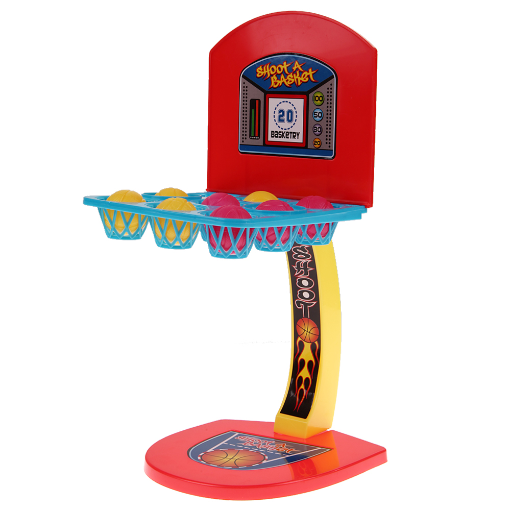 купить Desk Toy Kid's Desktop Game Mini Shooting Basketball Sports Game Educational Toys Interative Marbles Game Children Creative Toy по цене 272.67 рублей