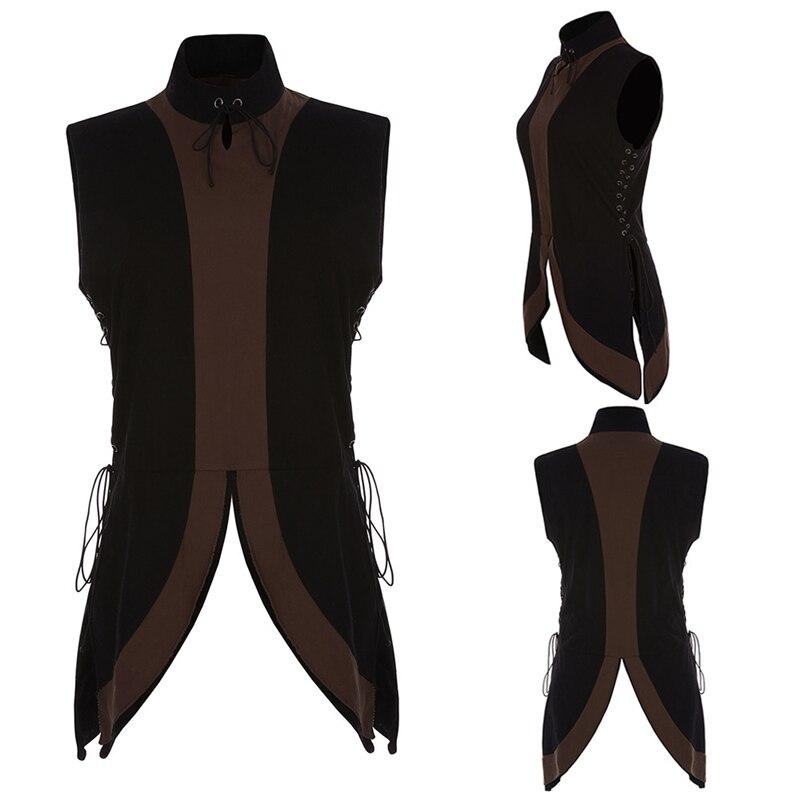 Seasonal New Summer New National Wind Collar Collarless Neutral Shirt Medieval Renaissance Men And Women Apply