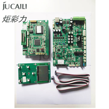 Jucaili one set printer board kit for Epson xp600/DX5/DX7 single head board carriage board main board for solvent printer 90% new original main board mother board for epson printer l800