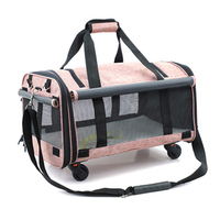 Pets bags Small animal universal wheel Luggage,Cat and dog outdoor rolling suitcase,Breathable Pet house travel bag pet box