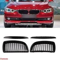 Matte Black A Pair Air Intake Grille Kit Decoration Sticker For BMW 3 Series E90