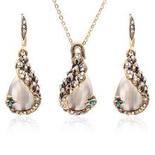Necklace and Earring Set Imitation Pearl Jewerly Sets for Women sieraden Sets parure femme African Necklace Earrings Sets(China)