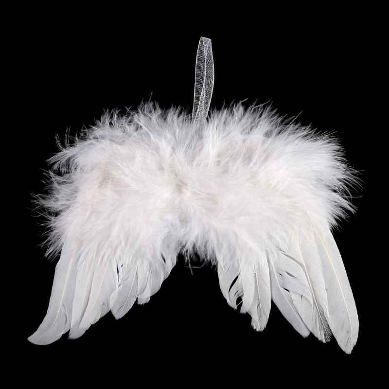 Bebê recém-nascido menina do menino branco asas de anjo foto adereços bonito fotografia acessórios ornamentos