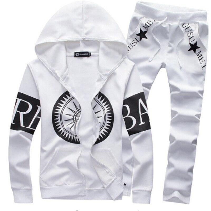 AILOOGE 2017 printemps marque de mode hommes survêtement Patchwork vêtements de sport pour hommes ensemble OutdoorWear Hip Hop sweat pour hommes