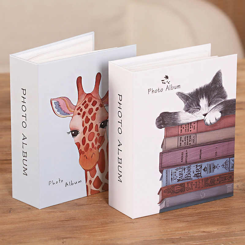 6 inch 100 Pictures Pockets Cartoon Photo Album Interstitial Photos Book Case Kid Album Storage Family Wedding Memory Gift