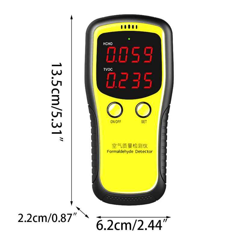 Portable LCD Digital Dioxide Meter CO2 Monitor PM2 5 Indoor Air Quality  Formaldehyde Detector