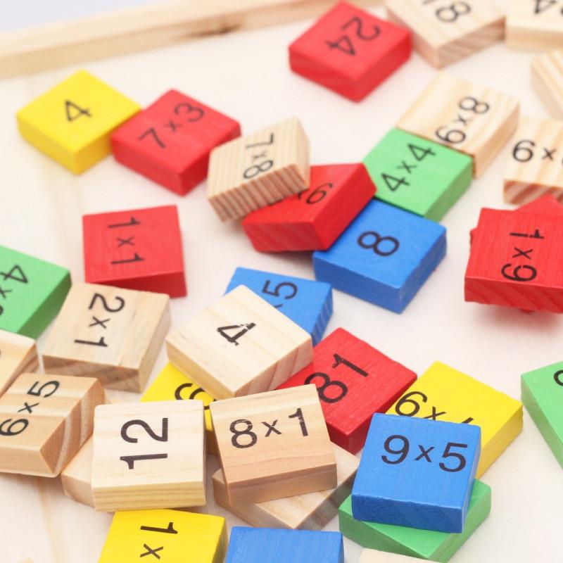 8,66 дюймов детские, для малышей деревянный математическое домино игрушки двойной стороне печатной платы дети весело играют в Образовательн...