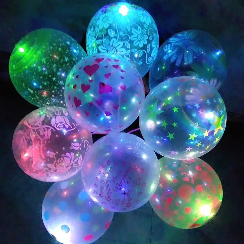 Colorful Flash Illuminated Led Balloon Glow In The Dark