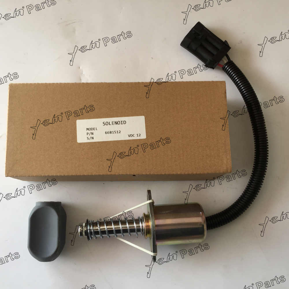 hight resolution of for bobcat engine model stop solenoid 6681512 for s150 s160