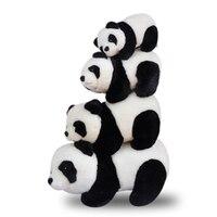 Mignon Panda Doux En Peluche Jouets Animaux En Peluche Petit Bébé Poupées Pelúcia Animaux D'anniversaire Cadeau Spielzeug Sommeil Jouets Pour Bébés 60G0299
