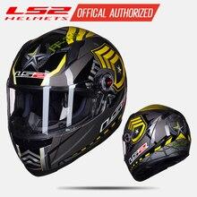 Оригинальный LS2 FF358 анфас moto rcycle шлем ls2 moto cross racing casco moto шлем capacete ls2 ECE утвержден нет насоса