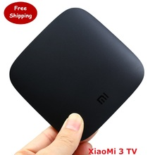 Xiaomi mi tv box 3 wifi amlogic s905 64bit quad core 1 GB DDR3 Android 5.0 Inteligente 4 K HD TV Box medios Kodi15.2 jugador